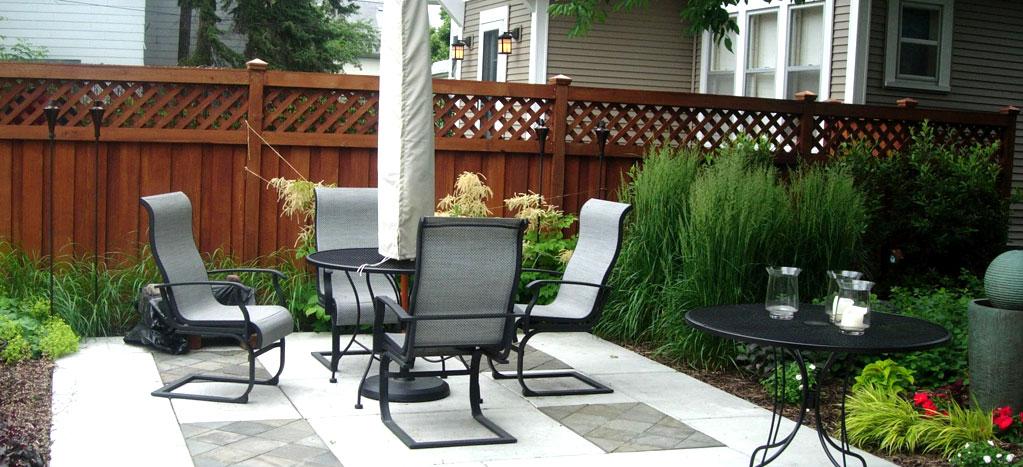Patio set in outdoor area