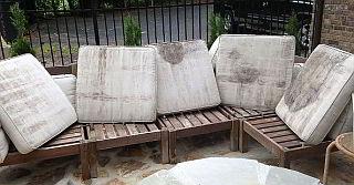 dirty cushions